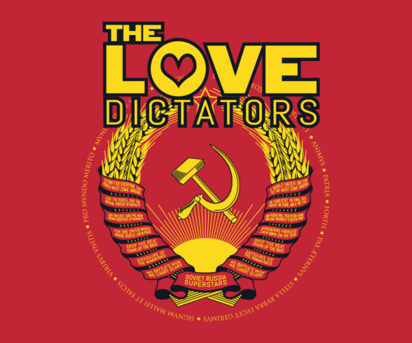 The Love Dictators Aufdruck Crest Logo auf Red Shirt