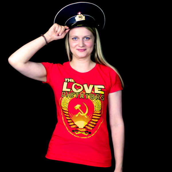The Love Dictators Crest Ladies' Shirt in Red