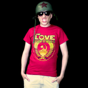 The Love Dictators Logo Shirt in Cardinal Red